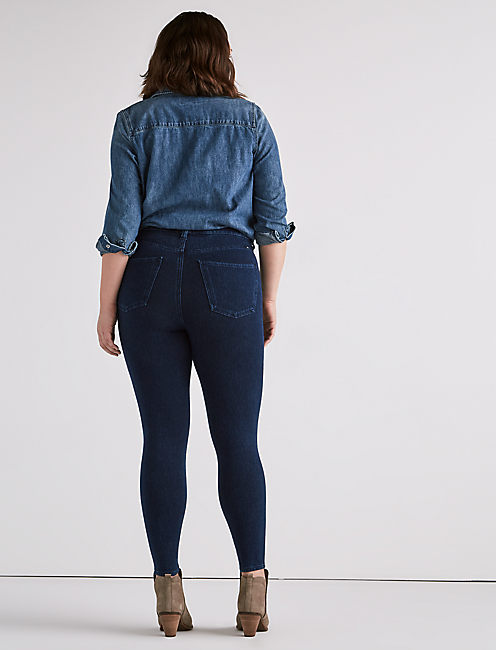 PLUS SIZE EMMA KNIT LEGGING JEAN IN ARBOR, ARBOR