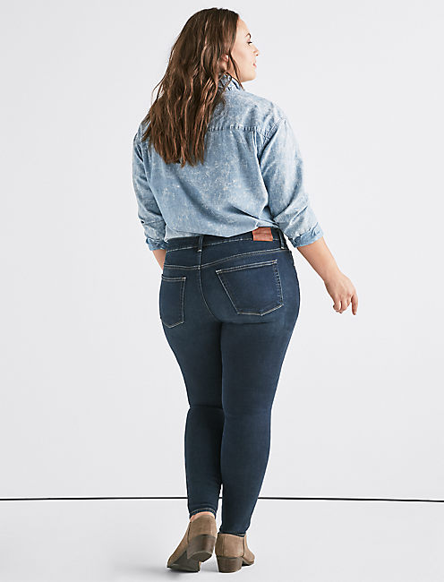 Plus Lolita Mid Rise Skinny Jean,