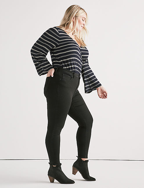 5b8fff668db Plus Size Black Skinny Jeans