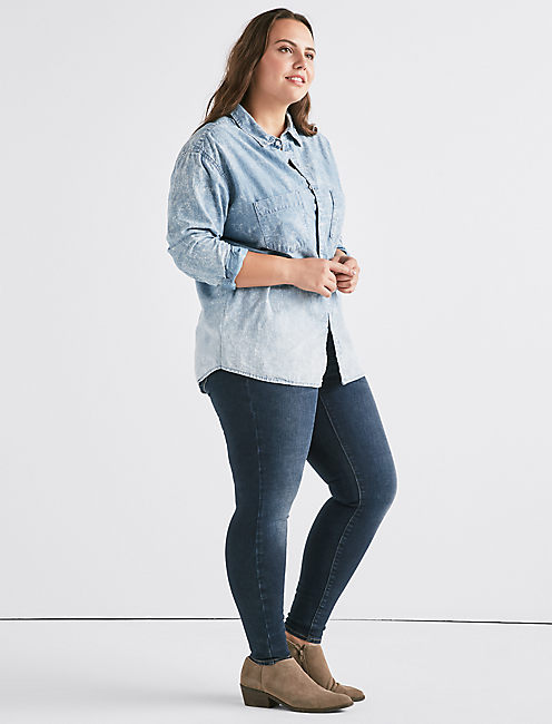 Lucky Plus Denim Boyfriend Shirt