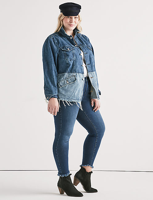 Lucky Lucky Remade Pieced Waisted Trucker Jacket
