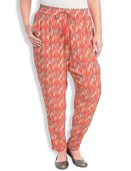 SOFT PANT, ORANGE MULTI