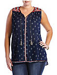 DOTTED DIAMOND TOP,
