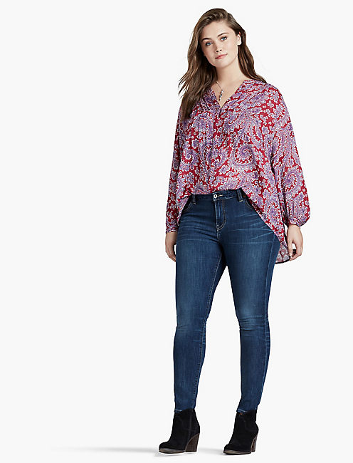 LUCKY TEXTURED PAISLEY TOP