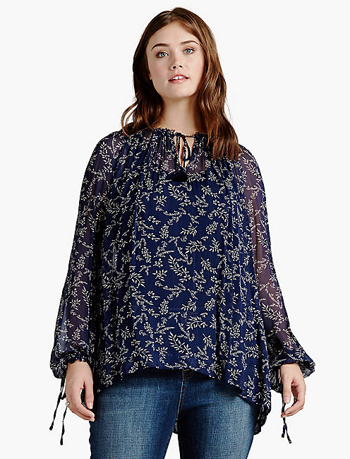 TOSSED FLOWER TOP,