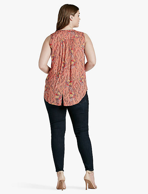 FEATHER PAISLEY TOP,