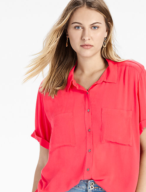 SAFARI SHIRT, HIBISCUS