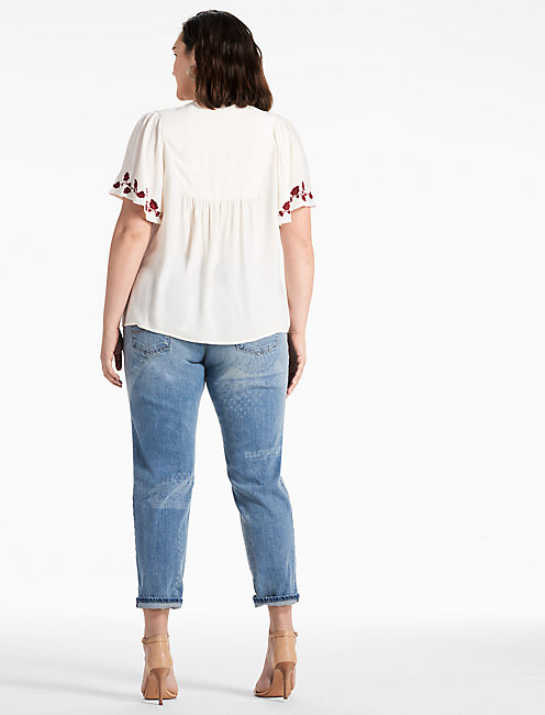 HANNAH EMBROIDERED TOP,