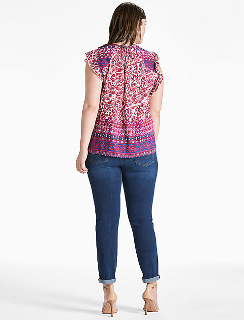 FLUTTER SLEEVE TOP,