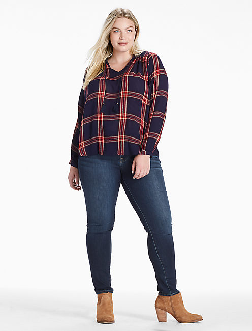 Lucky Plaid Peasant Shirt
