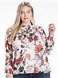 OPEN FLORAL PRINT TOP,