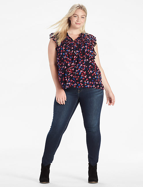 Lucky Ruffle Floral Top