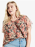 RUFFLE ROSE TOP,