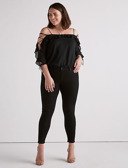 Lucky Cold Shoulder Kelly Top