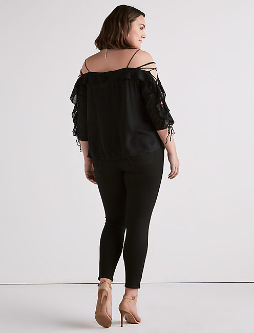 COLD SHOULDER KELLY TOP,