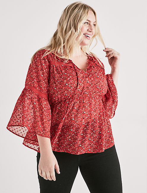 SWISS DOT DITSY TOP,