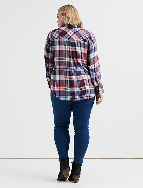 BACK PLACKET PLAID,