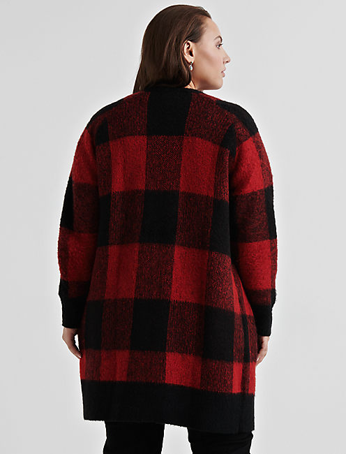 BUFFALO PLAID CARDIGAN.,