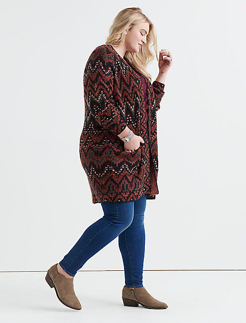 LONG IKAT CARDIGAN,
