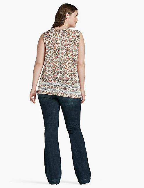 FLORAL PRINT SHELL,