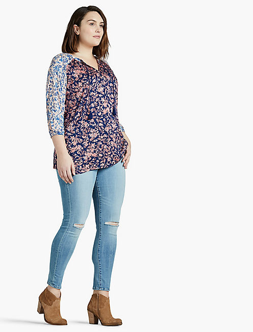 Lucky Mixed Floral Top