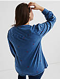 WASHED EMBROIDERED TOP,