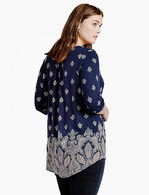 PLACED PAISLEY PRINT TOP,