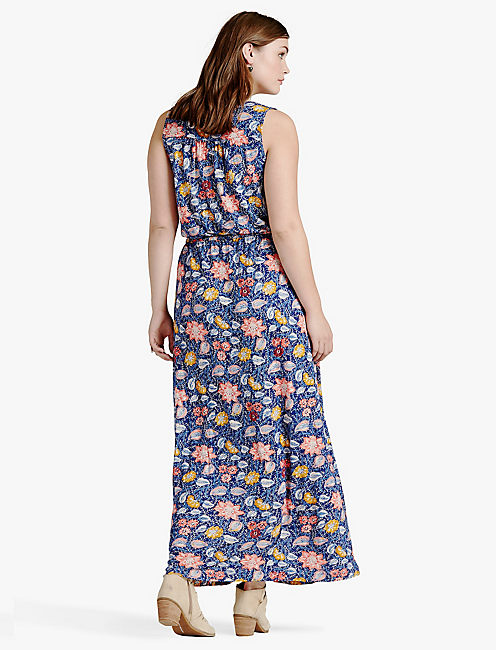BATIK FLORAL DRESS,