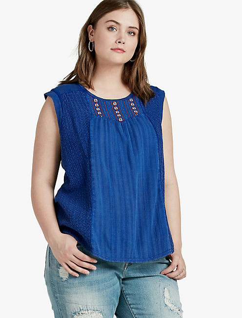 WASHED KNIT TOP,