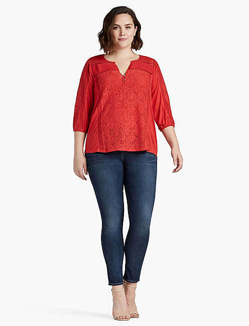 MIXED LACE TOP,