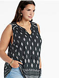 DIAMOND PRINTED SHELL TOP,
