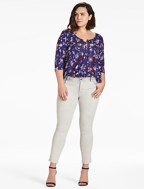 Lucky Floral Swing Top