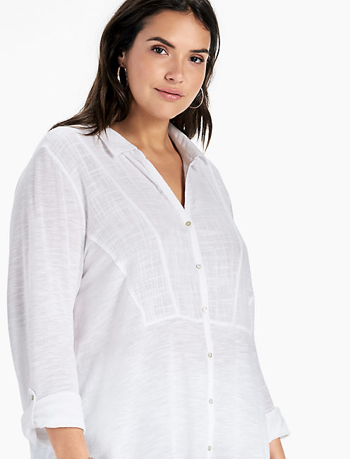 BUTTON DOWN GAUZE,