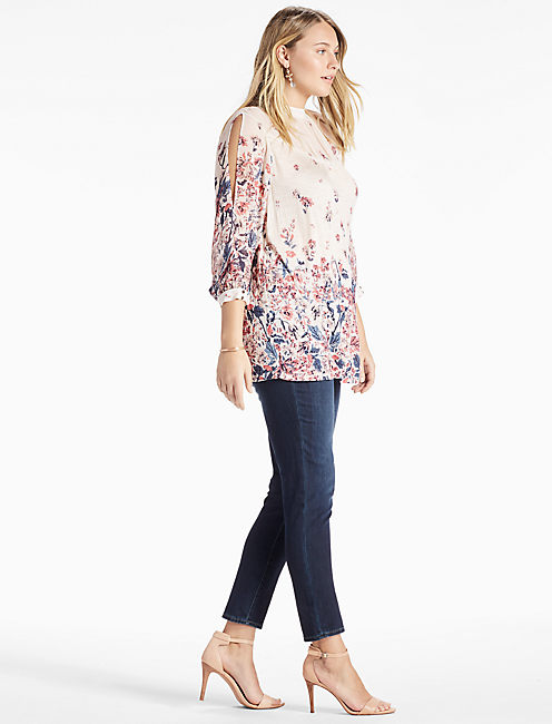 Lucky Floral Mixed Print Top