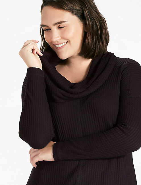COWLNECK THERMAL, 001 LUCKY BLACK