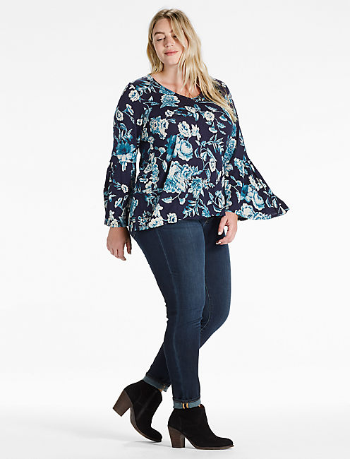 Lucky Encinitas Bell Sleeve Top