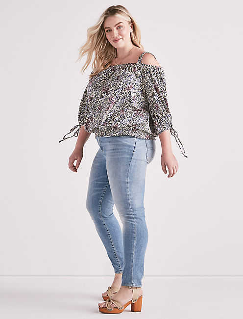 Floral Off The Shoulder Top,