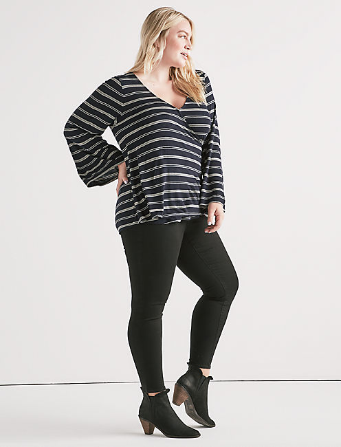 STRIPE WRAP TOP,