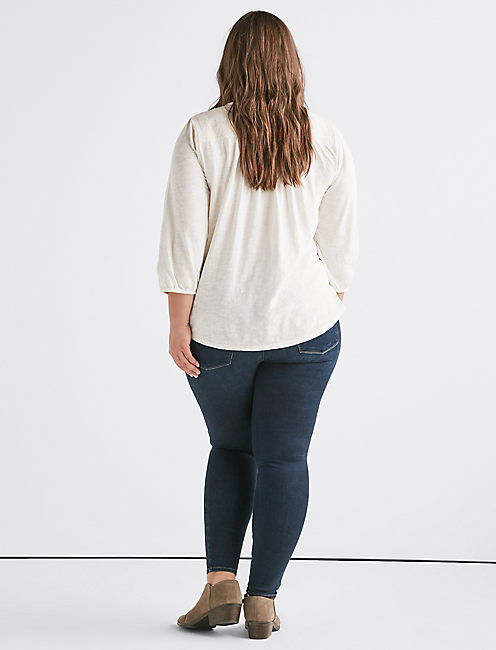 LONG SLEEVE EMBROIDERED TOP,