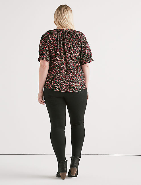 FLORAL HENLEY TOP,
