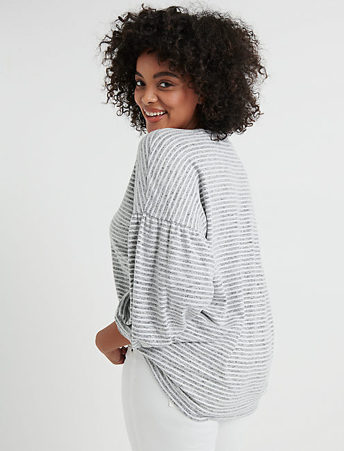 Cloud Jersey Volume  Sleeve Top