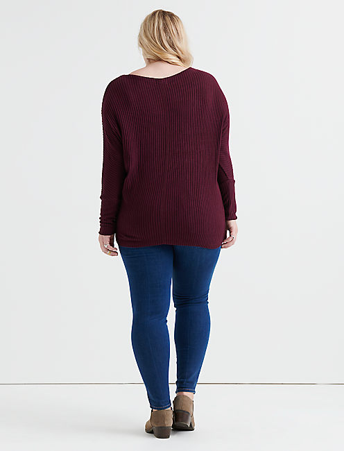 BRUSHED DOLMAN PULLOVER,