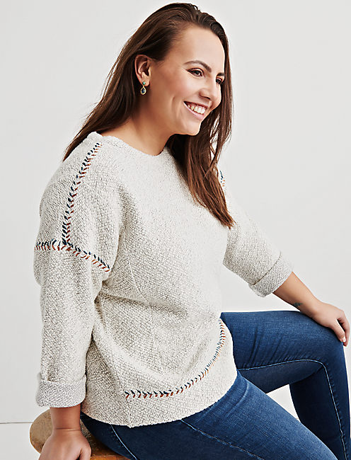 EMBROIDERED PULLOVER,