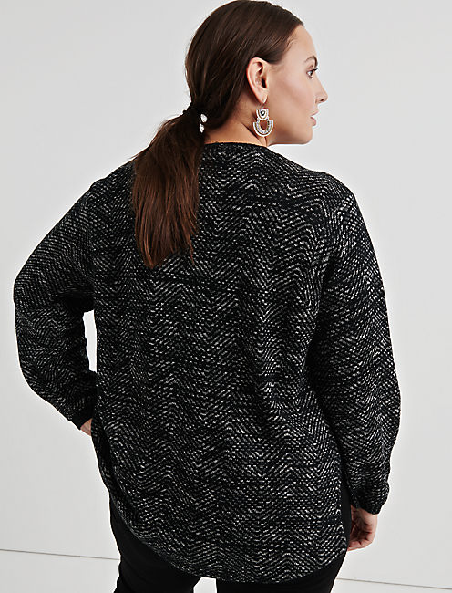 EMBROIDERED TWILL PULLOVER,
