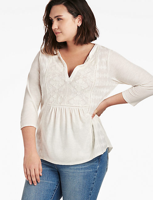 Plus Size Babydoll Tops Lucky Brand