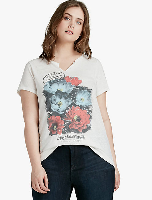 ENRICHED FLOWERS TEE,