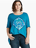 MANDALA WATERCOLOR TEE,