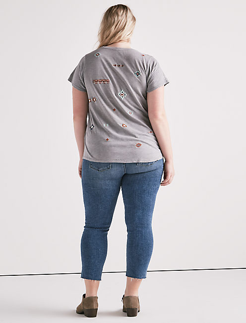 ALL OVER EMBROIDERED TEE,