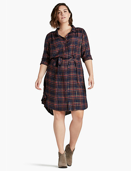 BUNGALOW PLAID DRESS,