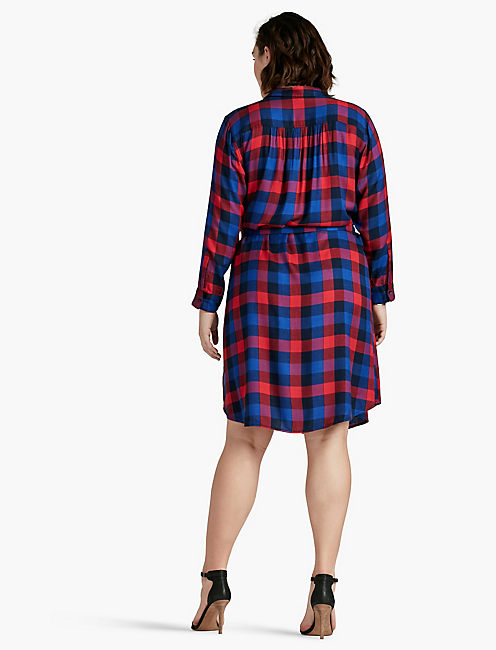 BUNGALOW PLAID DRESS,
